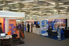 Avionics Europe 2012 exhibition Royalty Free Stock Photo