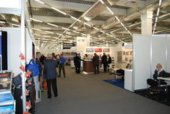 Avionics Europe 2012 exhibition Royalty Free Stock Photography
