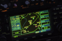 Avionics instrumentation panel on helicopter Royalty Free Stock Photos