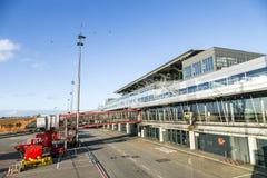 Avions à Hambourg sur le terminal 2 Photographie stock