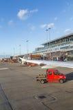Avions à Hambourg sur le terminal 2 Photos libres de droits