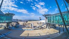 Avions à l'aéroport de Marseille Photographie stock libre de droits