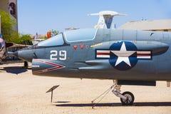 Avions à l'air de Pima et au musée d'espace Photographie stock