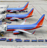 Avions à la porte Photos libres de droits