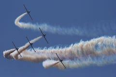 Avions à réaction acrobatiques aériens Photo stock