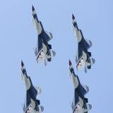 Avions à réaction Airshow de Thunderbirds Photo libre de droits