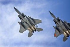 Avions à réaction au-dessus du Nevada images libres de droits