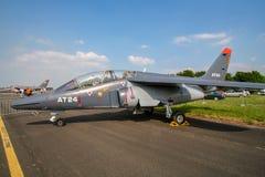 Avions à réaction belges d'entraîneur d'Alpha Jet de l'Armée de l'Air photo libre de droits