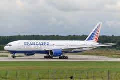Avions à réaction de Boeing 777-200ER Images stock