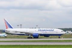 Avions à réaction de Boeing 777-200ER Image stock