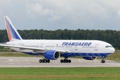 Avions à réaction de Boeing 777-200ER Images libres de droits