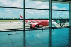 Avions à réaction de la ligne aérienne Air Asia Photos stock