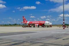 Avions à réaction de la ligne aérienne Air Asia Photo libre de droits