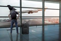 Avions à réaction de la ligne aérienne Air Asia Image libre de droits