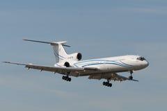 Avions à réaction du Tupolev Tu-154 Image libre de droits