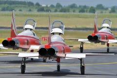 Avions à réaction suisses d'air   photo stock