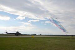 Avions acrobatiques aériens Images libres de droits