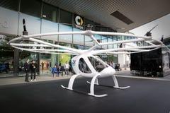 Avions ADAV entièrement électriques de Volocopter Images libres de droits