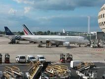 Avions Airbus A320 d'Air France Images libres de droits