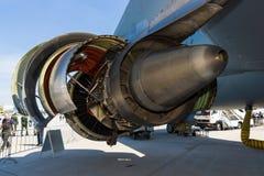 Avions Airbus A310 de turboréacteurs de General Electric CF6-80C2 de moteur à réaction Images libres de droits