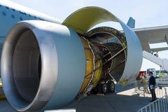 Avions Airbus A310 de turboréacteurs de General Electric CF6-80C2 de moteur à réaction Photographie stock libre de droits