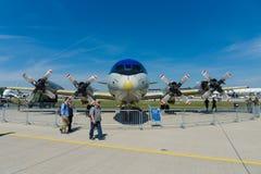Avions anti-sous-marins et maritimes Lockheed P-3C Orion d'un turbopropulseur quatre moteurs de surveillance Photos stock