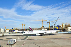 Avions au tablier Images libres de droits
