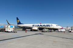 Avions Boeing 737-800 de Ryanair Images libres de droits