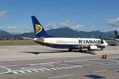 Avions Boeing 737-800 de Ryanair Photographie stock