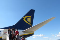 Avions Boeing 737-800 de Ryanair Photo stock