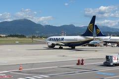 Avions Boeing 737-800 de Ryanair Photo libre de droits