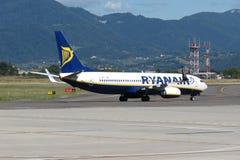 Avions Boeing 737-800 de Ryanair Image libre de droits
