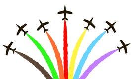 Avions colorés de vecteur Photographie stock libre de droits