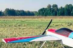 Avions commandés par radio avec le moteur de méthanol Photographie stock