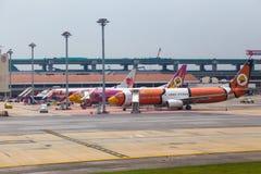 Avions commerciaux chez Don Muang International Airport, Thailan Photo libre de droits