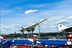 Avions Concorde dans le musée Images libres de droits