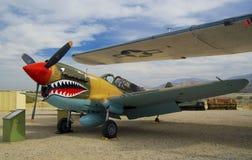 Avions Curtiss P-40 Warhawk photographie stock libre de droits