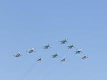 Avions d'acrobaties aériennes de Victory Parade Photos libres de droits