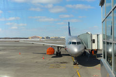 Avions d'Aeroflot accouplés dans l'aéroport de Sheremetyevo Photo stock