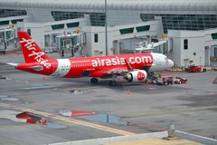 Avions d'Air Asia Photo stock