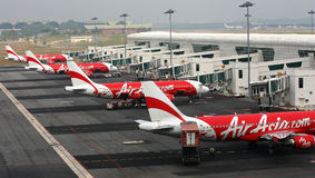 Avions d'Air Asia Photos libres de droits