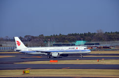 Avions d'Air China Photos libres de droits