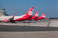 Avions d'Airberlin en Berlin Germany Photographie stock