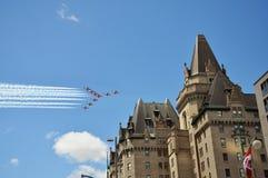 Avions d'Airshow le jour du Canada, Ottawa Image stock