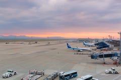 Avions d'ANA dans l'aéroport international Japon de Chubu Centrair Photographie stock libre de droits