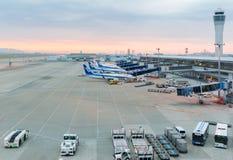 Avions d'ANA dans l'aéroport international Japon de Chubu Centrair Photographie stock