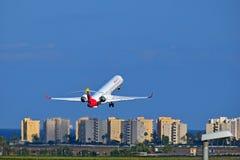 Avions d'Ibérie à l'aéroport d'Alicante Photos libres de droits