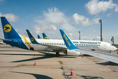 Avions d'Ukraine International Airlines Image stock