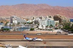 Avions dans l'aéroport à la station de vacances populaire - Eilat, Israël Photographie stock