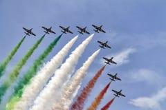 Avions dans le ciel Images libres de droits